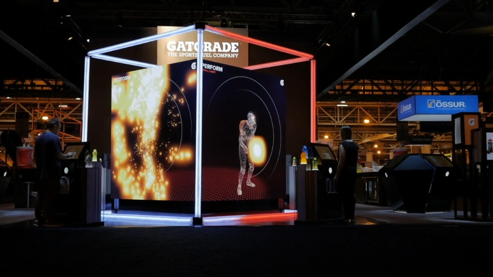 Interactive cube - Interactive installations