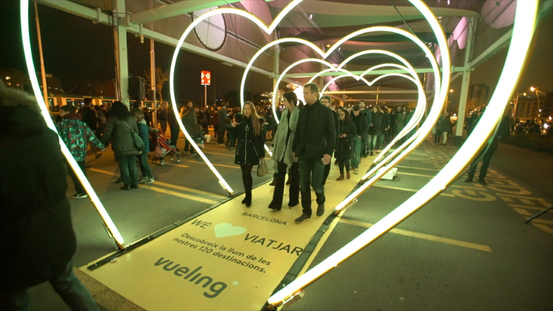 Led tunnel - Interactive installations